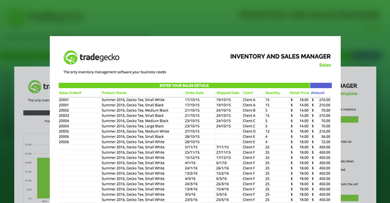 inventory management excel