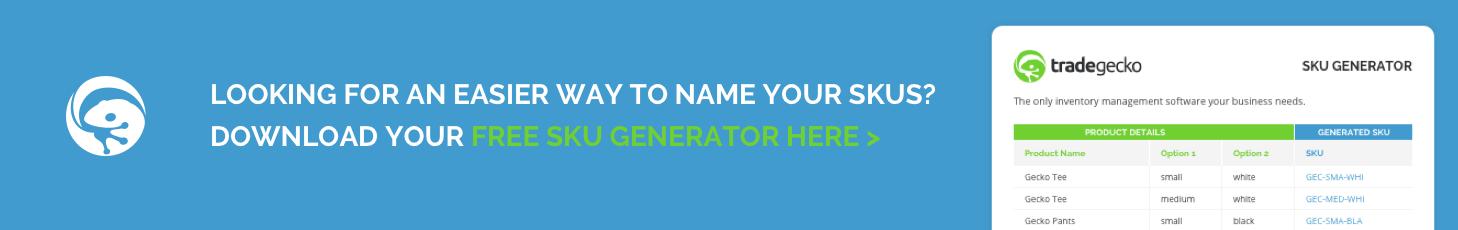 SKU Generator Excel Template Download